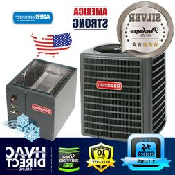 """2 Ton 14 SEER Goodman Air Conditioner and 14"""" Wide Upflow/Do"""