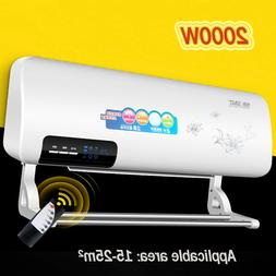 2000W Wall Mounted Heater Household Portable Space Heating A