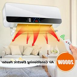 2000w wall mounted heater remote control led