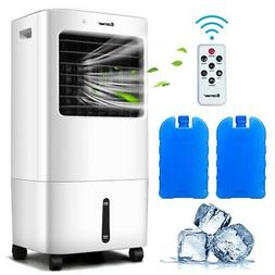 Evaporative Portable Air Cooler Fan & Humidifier w/ Remote C