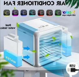 Mini Portable Air Conditioner 7 Colors Light Conditioning Hu