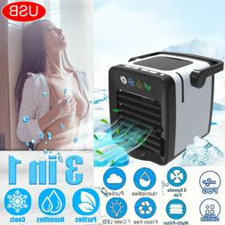 US LED Air Conditioning Unit Fan Low Noise Home Cooler Cold